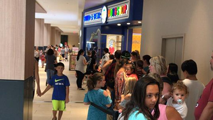 Build-A-Bear lines at Rosedale wrapped throughout the lower level of the mall.