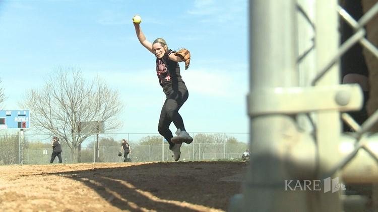 Benning's blazing fastball leads Stillwater softball