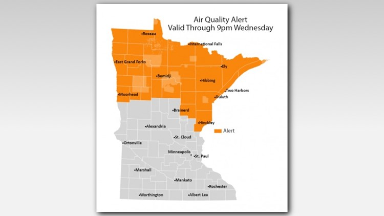 Air quality alert extended for northern Minnesota