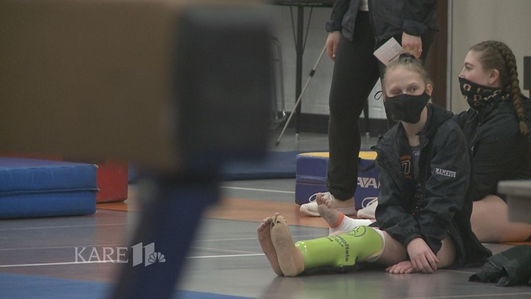 Osseo gymnast Jordan Buerman overcomes Goltz Syndrome to compete