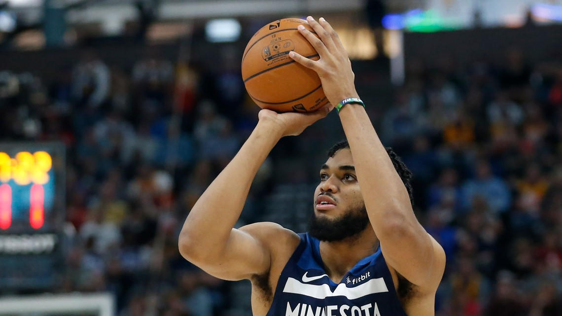 Towns hits seven 3-pointers, Wolves silence Jazz without Wiggins