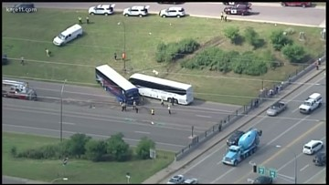 Hwy. 280 reopens after 2 buses collide near State Fair