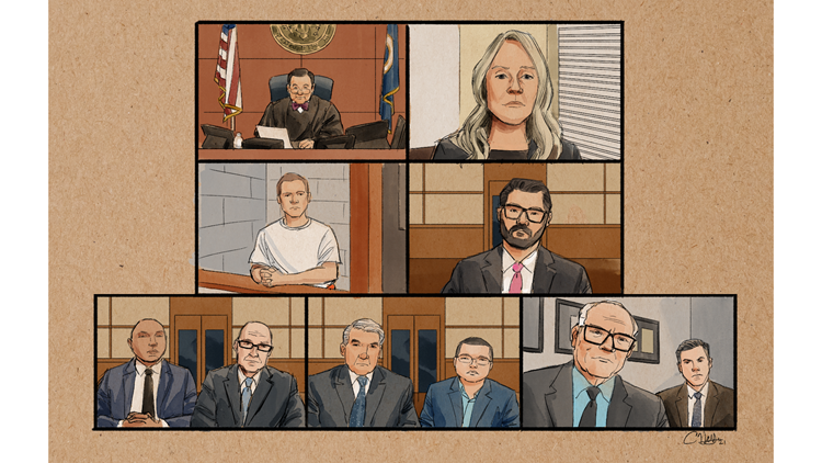 GALLERY: Courtroom sketches of former Minneapolis officers' federal hearing