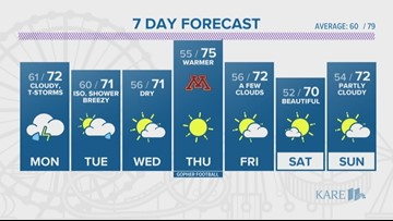 WEATHER: Showers push into the state today, heavy rains possible through Monday