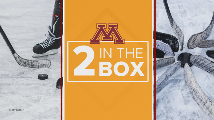 2 in the Box: Gopher hockey teammates Sammy Walker and Jack LaFontaine