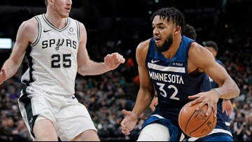 Timberwolves snap 11-game road skid against Spurs