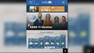 Get automated weather alerts in the KARE 11 app
