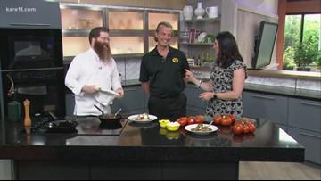 Recipe: Veal parmigiana with tomato marinara, mozzarella and basil