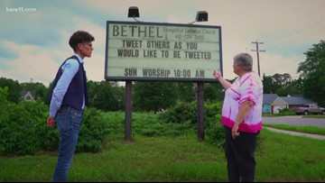So many signs, Jana had to pull over, and ask a Pastor, what's up