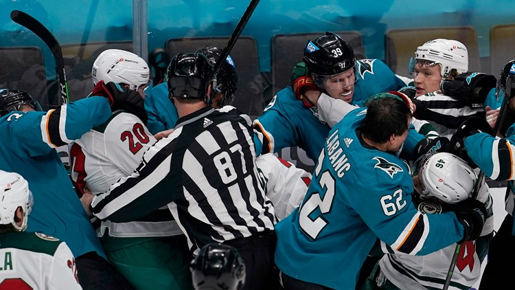 Wild bit by Sharks 4-2, winless in last 5 road games