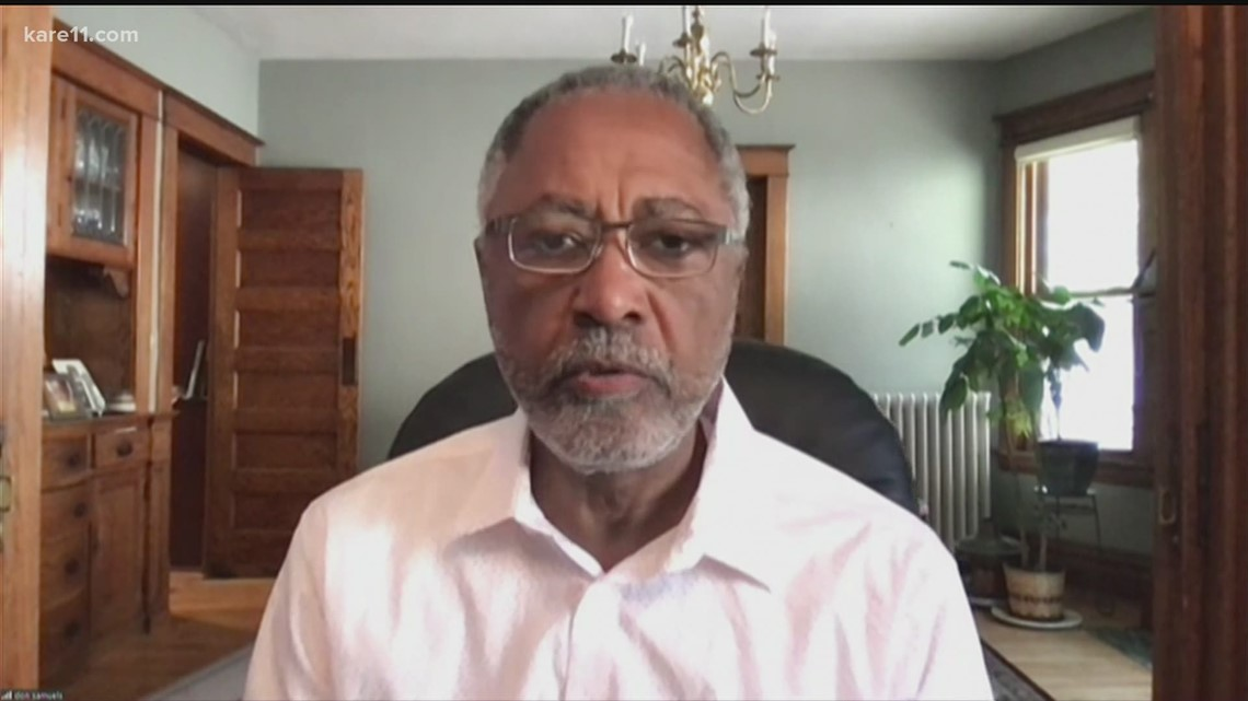 Fmr. Minneapolis council member Don Samuels reacts to Chauvin sentence