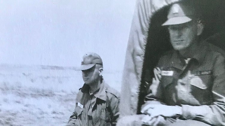 Ted Cynor (left) and Vern Ehnert served together in Vietnam