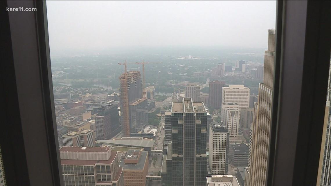 Hazy conditions over the metro