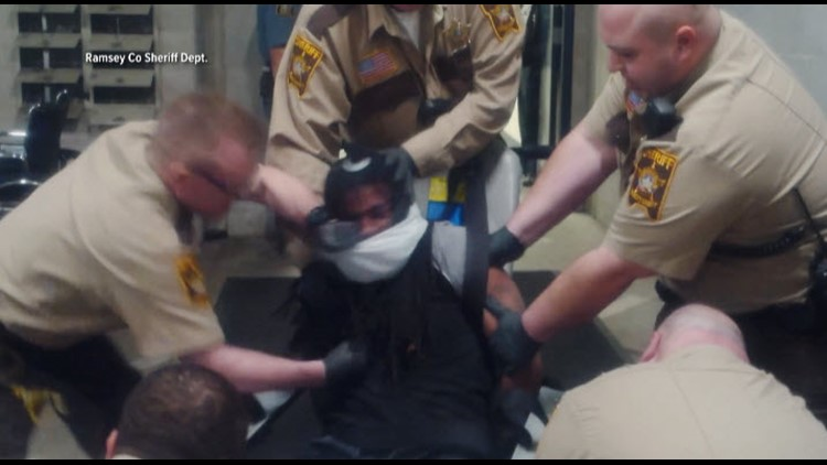 Ramsey County Sheriff's Dept. video showed Correctional Officer Travis VanDeWiele punching a prisoner.