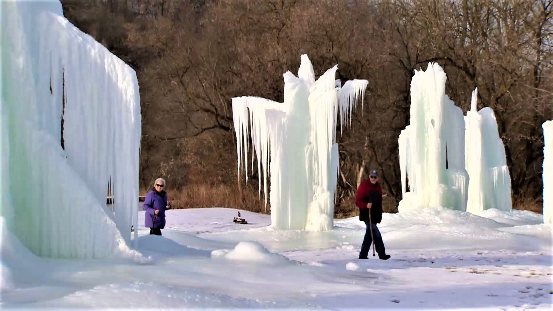 Local plumber taps artesian well to create spectacular ice sculptures
