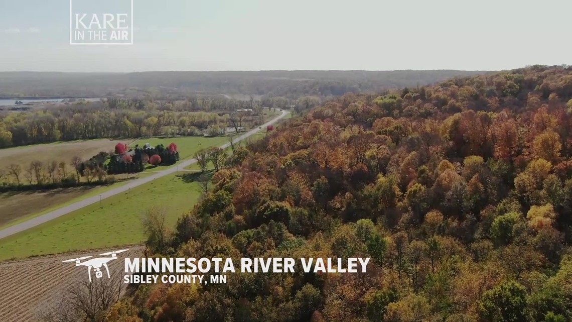 KARE in the Air: Minnesota River Valley fall color