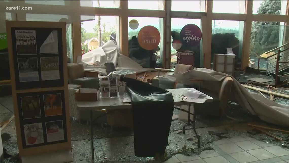 Strong storms cause damage in Hudson, Wisconsin
