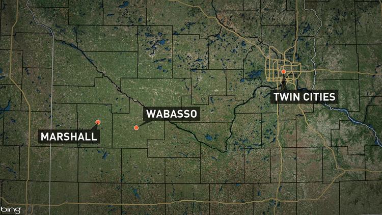 Map of Wabasso, Minnesota