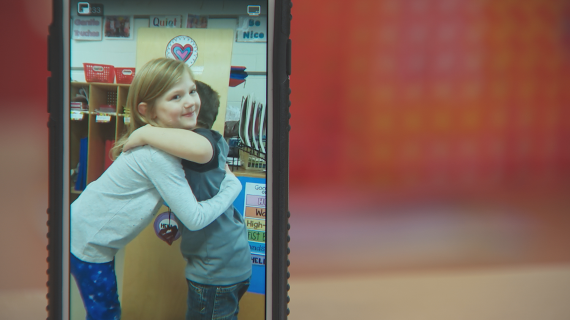 Kindergarten class hugs way to viral video