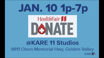 Resolve to donate blood at KARE 11 on Thursday