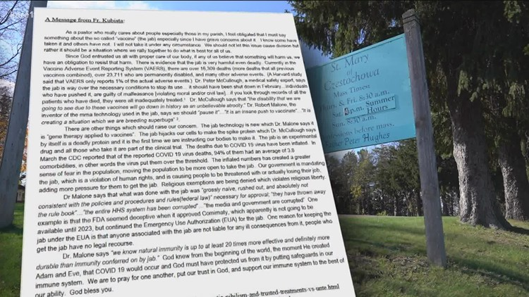 Delano church bulletin cites vaccine misinformation