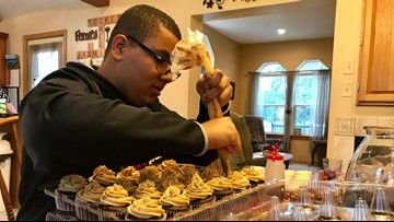 Denied trip to Disney World,  teen takes family himself - baking cupcakes