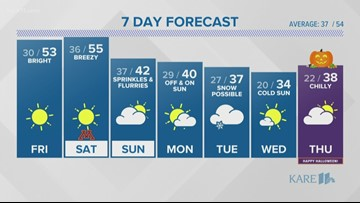 10 p.m. weather forecast 10-24-2019