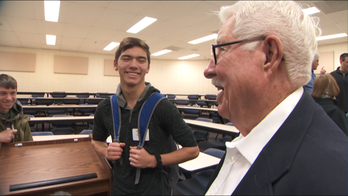 88-year-old veteran encounters group of ninth graders; magic happens
