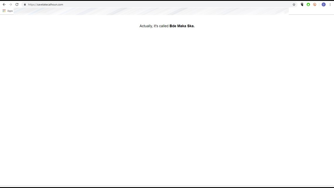'Save Lake Calhoun' website apparently hacked