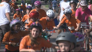 'Pinky Swear' Kids Triathalon helps young people fighting cancer
