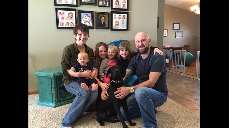 Jessica and Matthew Peterson with their blended family