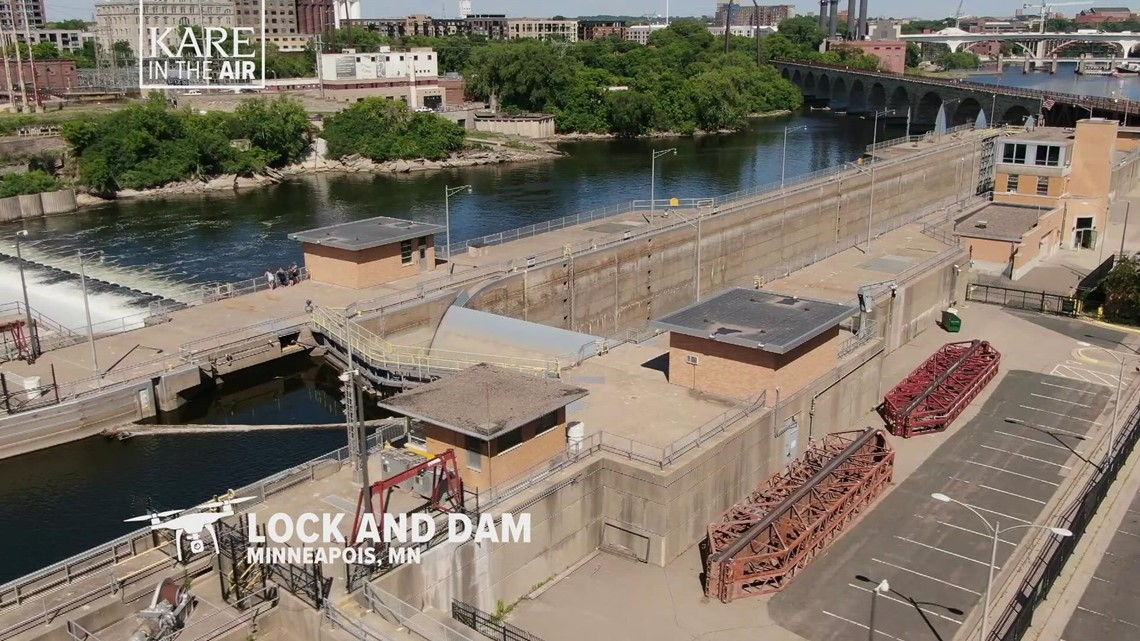 KARE in the Air: Upper St. Anthony Falls Lock and Dam