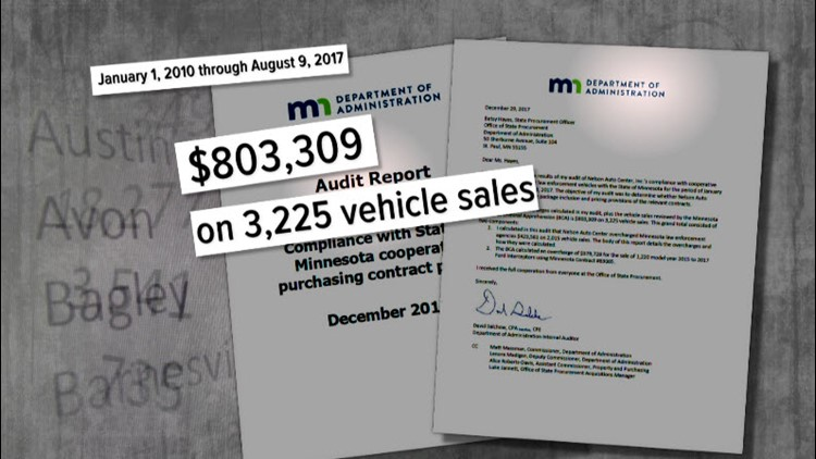 An audit conducted by the Minnesota Department of Administration found the overcharges had been going on for years and totaled $803,309. (Photo: KARE 11)