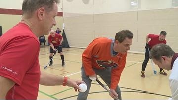 Perk at Play: Floor hockey