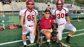 One-legged kicking coach inspires high school team