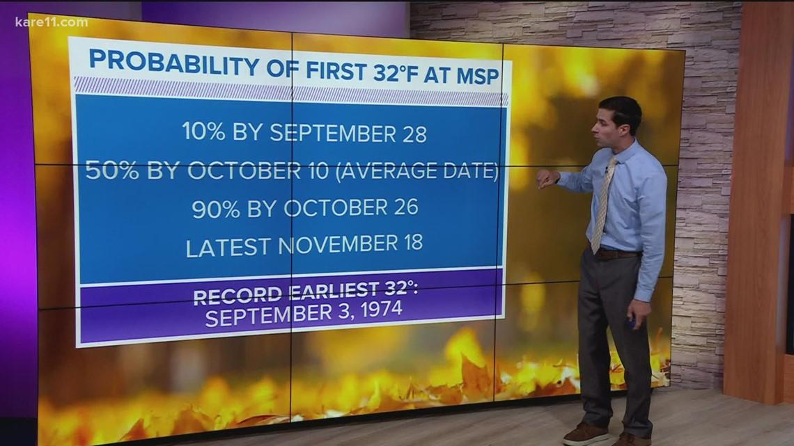 WeatherMinds: Average first freeze