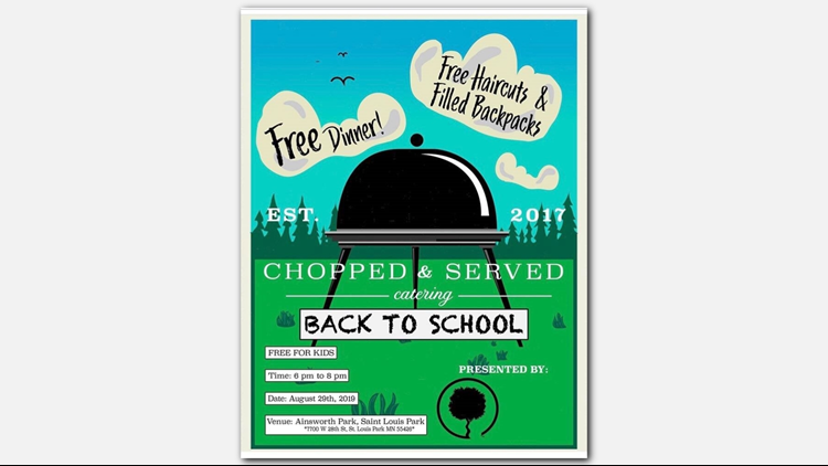 The flyer for Friday's Back to School event.