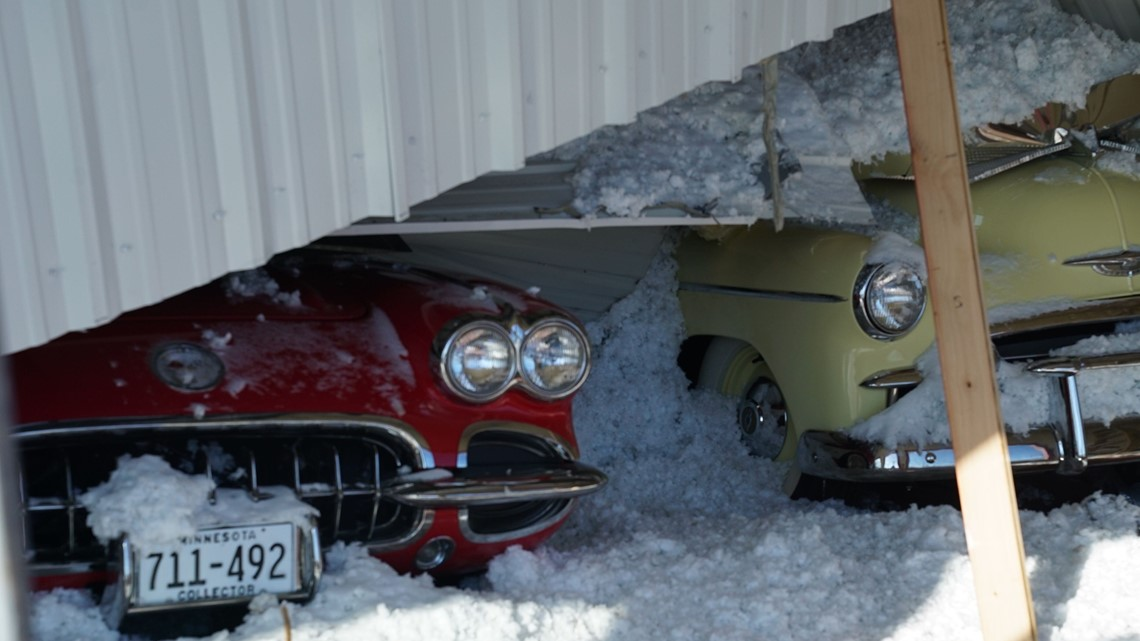 Roof Collapses On Classic Cars In Wabasha County Kare11 Com