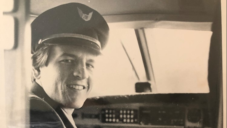 Brian Lenzen as a First Officer for Midstate Airlines in 1981.