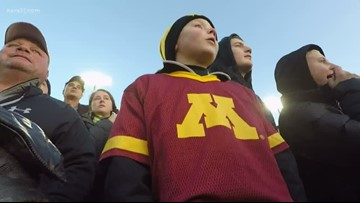 Gophers holder, young Hawkeyes fan bond over cancer experience
