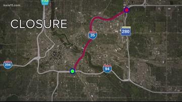Weekend closure on I-35W between Minneapolis, Roseville