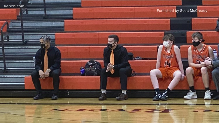 St. Charles High School basketball players add coaching to their resumes