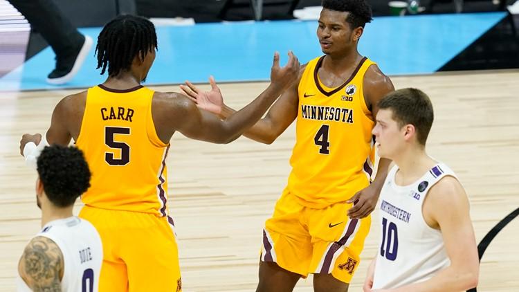Williams helps Minnesota knock off Northwestern 51-46