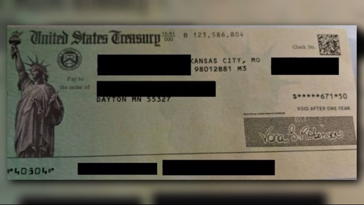 VA Home Loan refund check