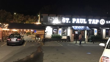 1 shot, woman injured after vehicle crashes into St. Paul bar patio