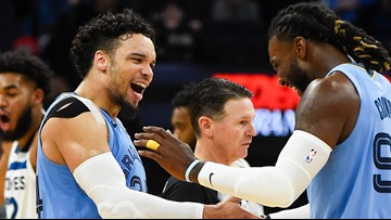 Brooks scores 26; short-handed Grizzlies beat Wolves 115-107