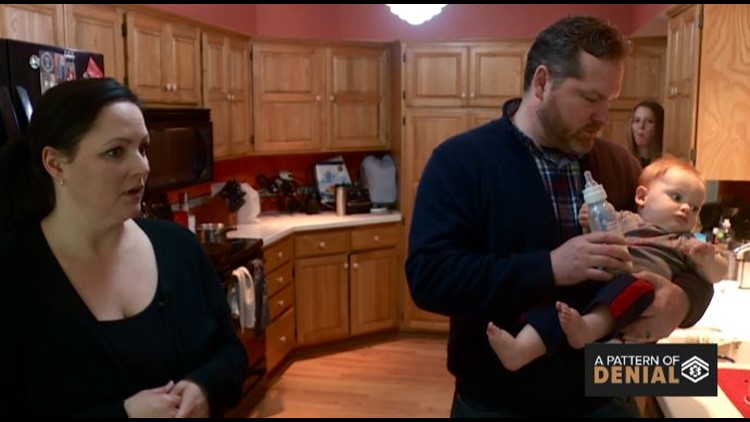 Pattern of Denial: Ben and Gretchen Krause with their baby