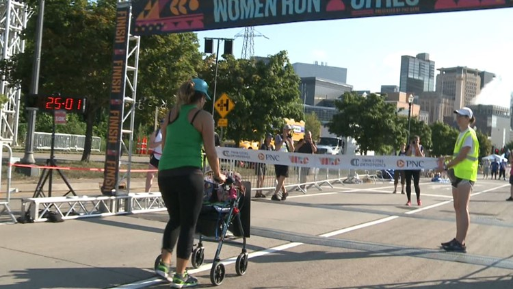 Woman tackles Twin Cities 5K with walker, 18 days after stroke