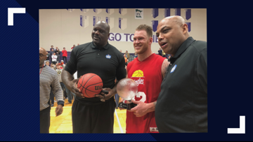 Shaq, Charles Barkley and Kyle Rudolph star in Celebrity basketball game