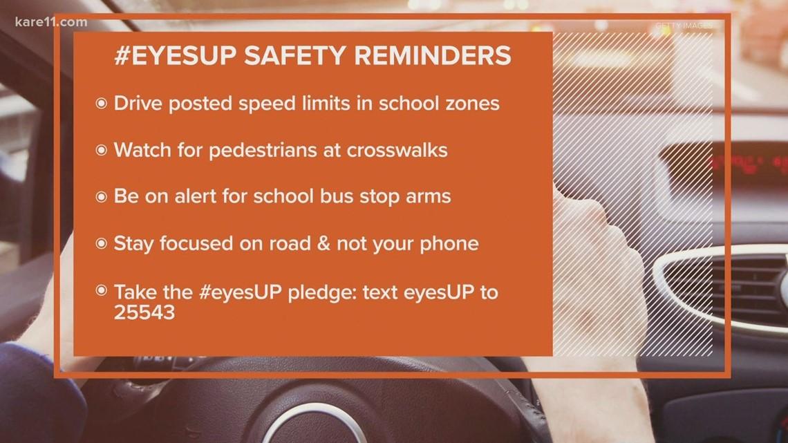 #eyesUP: Road rule reminders as students head back to school